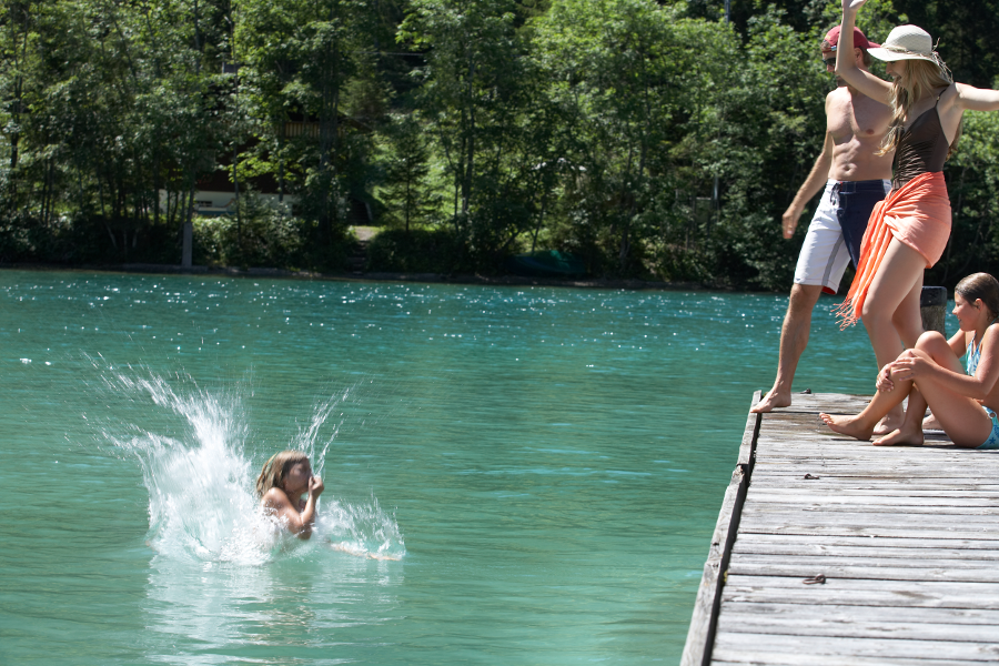 Swimming in the lakes of Reutte   Reutte