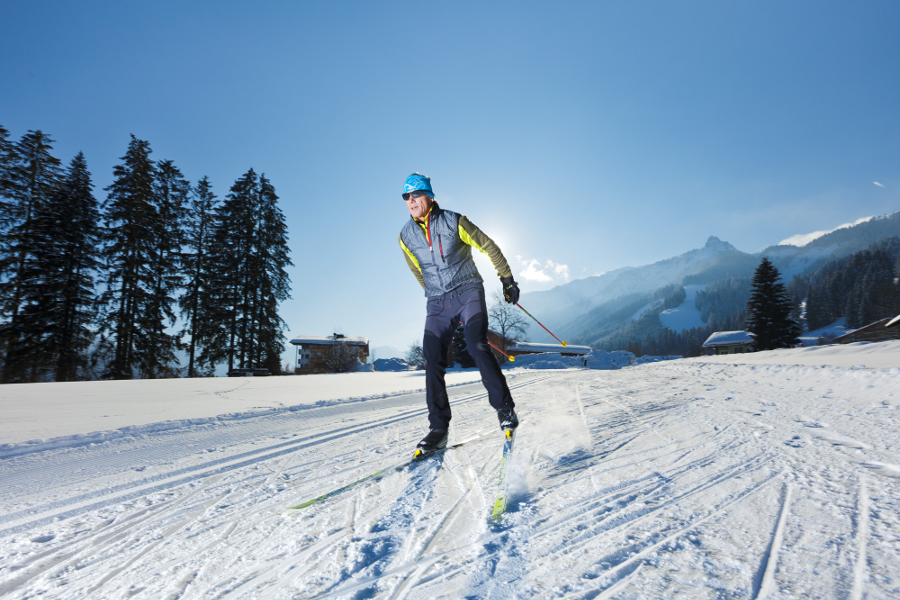 cross-country skiing and loipen   Reutte