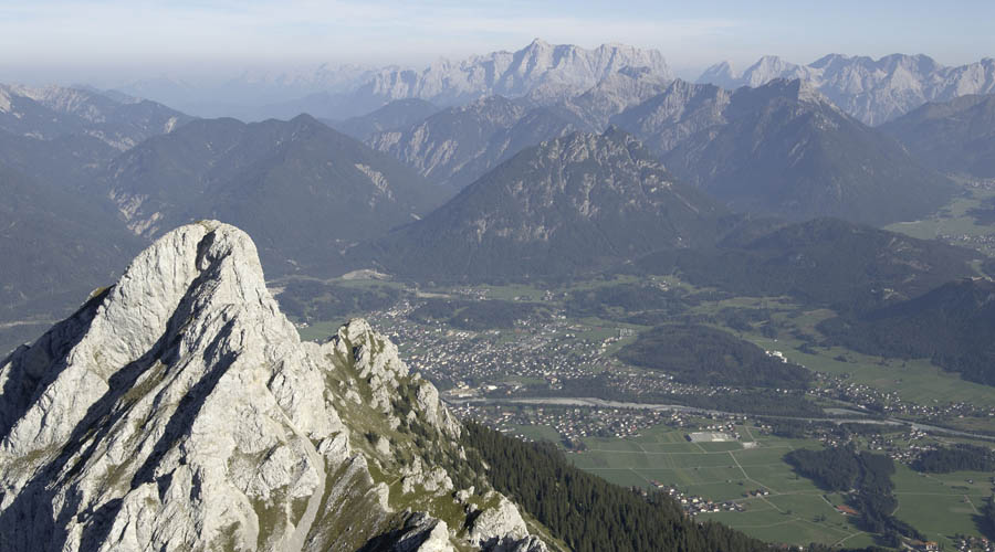 Mountain sports in the nature park region of Reutte