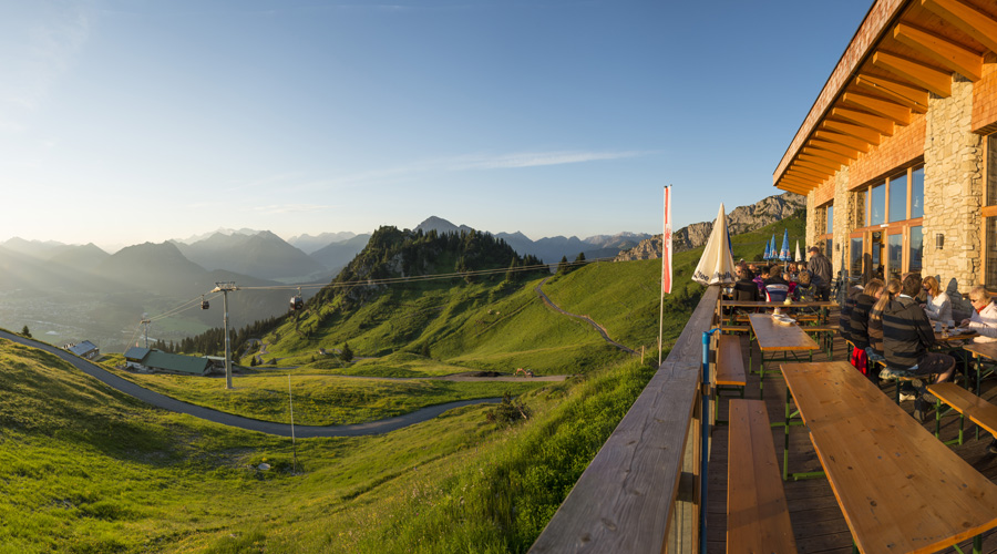 Reutte's Cable Car and Lifts in summer