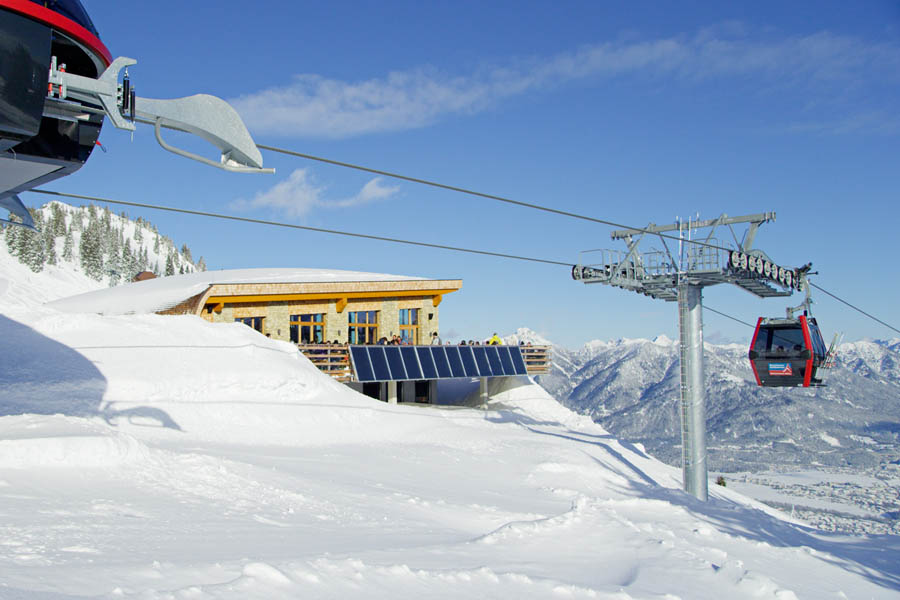 Cable Car and Lifts in winter